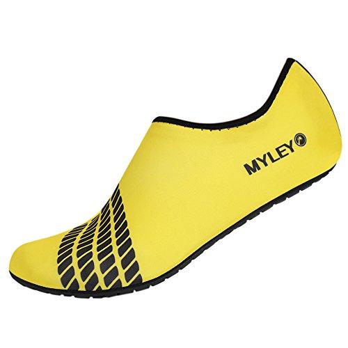 MORESAVE Per adulti a piedi nudi scarpe scarpe da ginnastica calze sportive scarpe di pelle di acqua della spiaggia di estate di nuotata Surf giallo