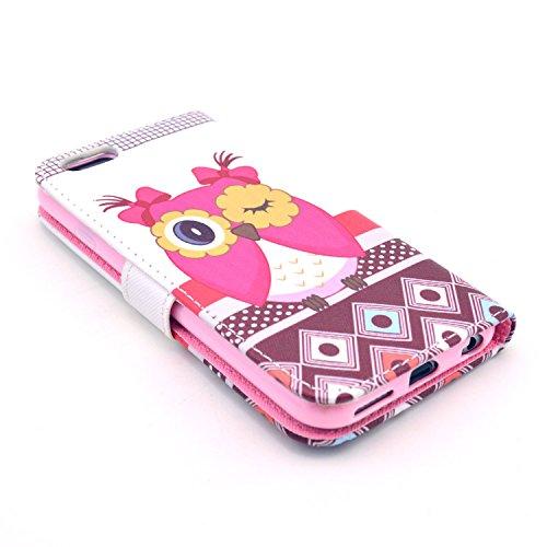 """MOONCASE iPhone 6 Case Motif Conception Coque en Cuir Portefeuille Housse de Protection Étui à rabat Case pour iPhone 6 (4.7"""") P17"""
