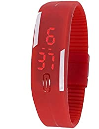 Snapcrowd-LED RED Digital Watch For Kids Boys Men And Girls
