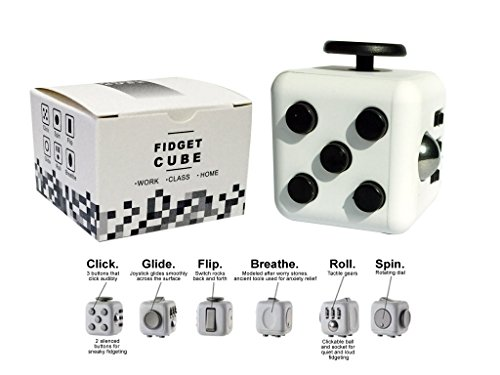 Fidget-Dice-6-Sides-Cube-Anti-Anxiety-and-Depression-Toys-for-Children-and-Adults-WhiteBlack
