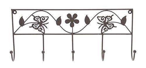 5 Haken Garderobe Schmetterling