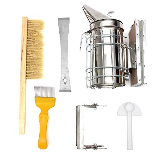 Skymore 6 Stück Bienenstock Raucher Set, Bee Hive Smoker, Imker-Zubehör, Imkereiausrüstung, Bienenzucht Werkzeug