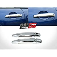 3 Puertas Coupe Cromo manija de Puerta Cubiertas para 207 308 407