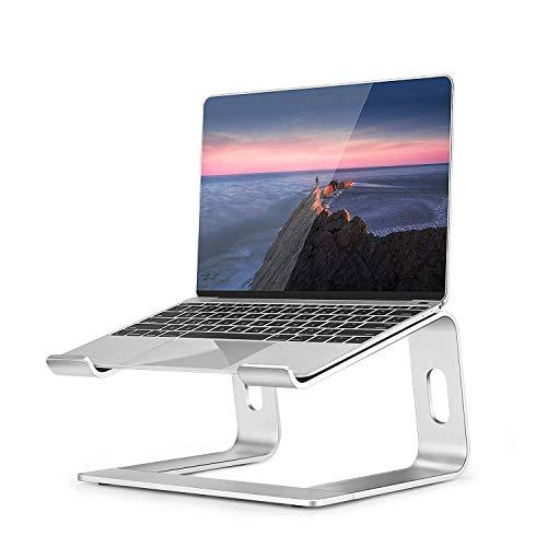 Laptopständer, Tragbar Klappbar Laptop Stand Verbesserte Alulegierung Cooling Notebook Ständer, Desktop Platzsparender Halter mit Anti-Rutsch Silikon, Geeignet für Alle 11-15.6