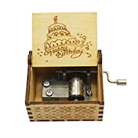Wooden Classical Carved Hand-operated Mechanical Music Box Selection Gift Souvenir (Happy Birthday)