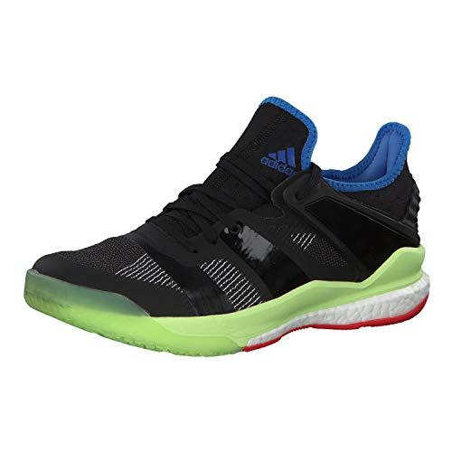 adidas Herren Stabil X Handballschuhe, Schwarz Core Black/Hi/Res Yellow, 48 2/3 EU