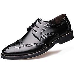 Zapatos Brogue de Hombre Vestido Formal Oxfords Zapatos de Cuero británicos