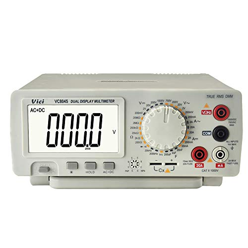LKSDD Multímetro, multímetro Digital de Rango automático, voltímetro de ohmios DCM/ACV/DCA, multímetro de Mesa 1000V 20A