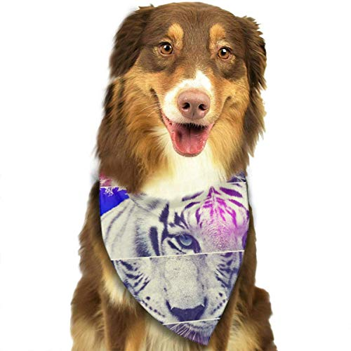 dfegyfr Abstract Tiger Neckerchief/Coo Dog Cat ()