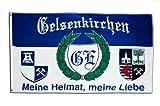 Flagge Fanflagge Gelsenkirchen 5 - Meine Heimat,...