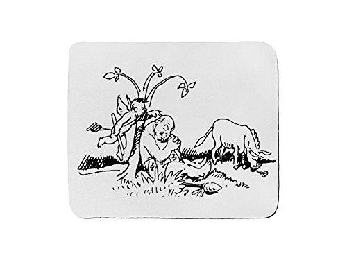 Tappetino per mouse rettangolo di W Busch der Haarbeutel 1a
