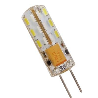 10er-Pack G4 LED Lampe 2W led Leuchtmittel SMD 24* 3014 LED Chip AC/DC12V Ø9,6 × 36mm (Warmweiß)