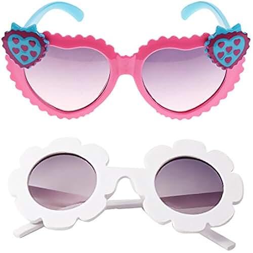 5fb4b44ca4 D DOLITY Par de Gafas de Sol Lente de Plástico Anteojos Jueg