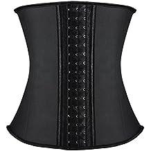 Corset Reductor Adelgazante Mujer S Corsé Sexy Cintura Cintorón de entrenamiento, Reduce la cintura, Modelador de cuerpo, forma reloj de arena, Interior: 96% Algodón, 4% de Lycra
