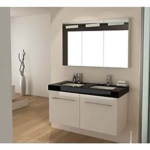 Ensemble salle de bain double vasque 120 cm OUREA
