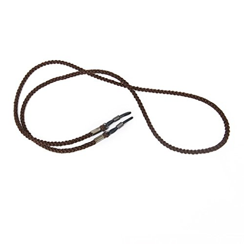TOOGOO(R) Nylon Trageriemen Schnur Schluesselband Schnur Sonnenbrille Brille Kette Inhaber - Dunkelbraun
