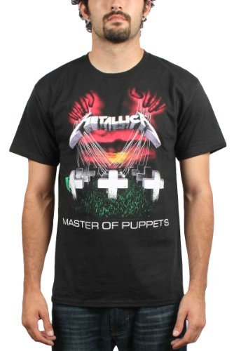 Adulti Ufficiale METALLICA Master of puppets T Shirt ufficiale Rock Band Top Tee Nero
