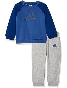 adidas I E Logo Jog FL Chándal, Unisex bebé, Azul Oscuro/Maruni, 80 (9/12 Meses)