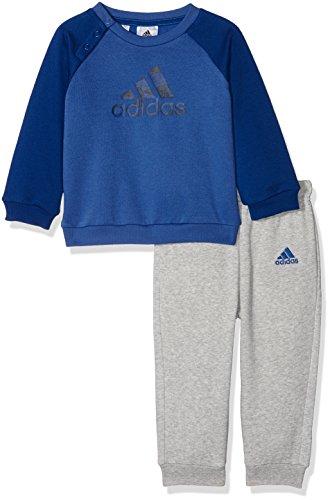 adidas I E Logo Jog FL Chándal, Unisex bebé, Azul Oscuro/Maruni, 80...