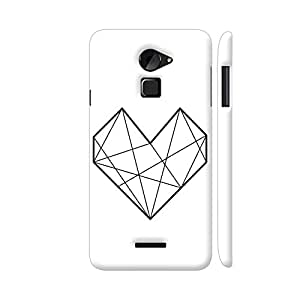 Colorpur Coolpad Note 3 Lite Cover - Diamond Heart Stroke Printed Back Case