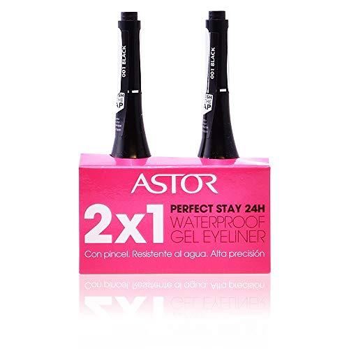 Astor Perfect Stay Gel Eye Liner 1-Black 2X1 Set -