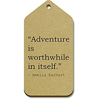 Stamp Press 10 'Adventure is worthwhile in itself.' Quote by Amelia Earhart Wooden Gift Tags (TG00009051)