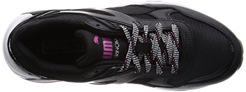 Puma R698 Basic Sp Te Damen Sneaker Schwarz - Noir (Black/Black/Carmine Rose)