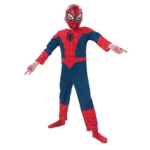 Rubie's 3886920 - Kostüm für Kinder - Ultimate Spiderman Deluxe, M
