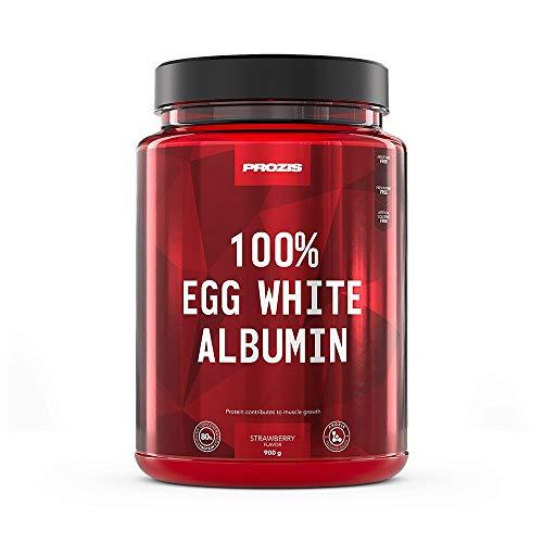 Prozis 100% Egg White - Albumin 900 g Strawberry (Ei-albumin)