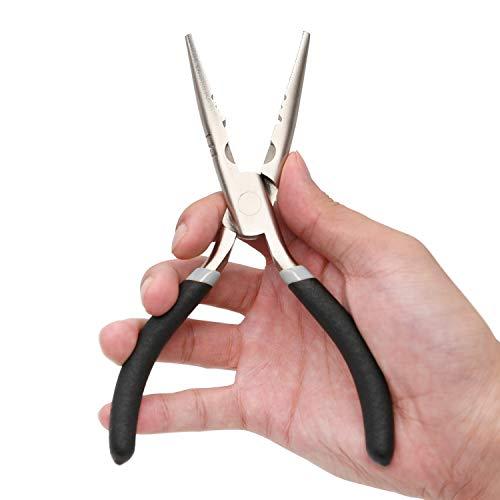 Sanlike da pesca pinza lunga in acciaio inox pesca pinze forbici impugnatura morbida rimuovere hook lure pesca cutter forbici shear
