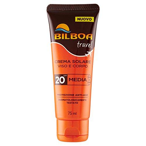 Bilboa - travel, crema solare, 20 spf - 75 ml