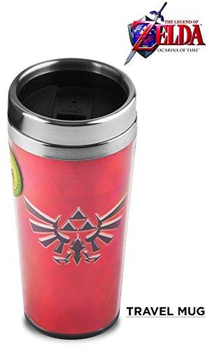 Offizielles rot Hylian Schild Master und Triforce Reisetasche Premium Tasse, 500ml (BPA frei) (Master Hand Kostüm)
