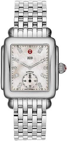 MICHELE Deco 16en acier inoxydable Diamant montre pour femme Mww06V000002montre bracelet (Montre-bracelet)