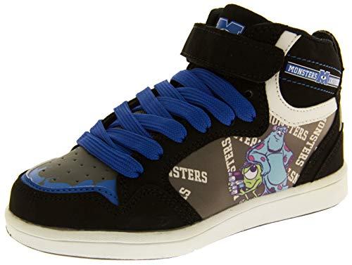 Disney Pixar Jungen Mädchen Monsters Inc Klettbänder Turnschuheschwarz-blau EU 28