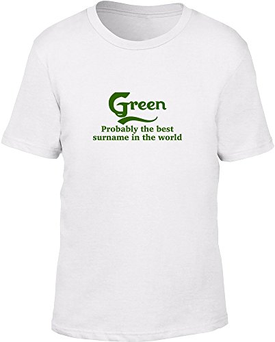 Verde probabilmente il migliore cognome nel mondo bambini T Shirt White