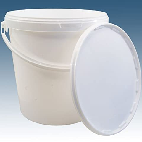 Home Brew & Wine Making - 10 Litre Food Grade Plastic Bucket With Lid - Multipurpose Ideal For Homebrew Winemaking Preserving Etc.