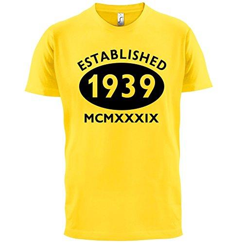Gegründet 1939 Römische Ziffern - 78 Geburtstag - Herren T-Shirt - 13 Farben Gelb