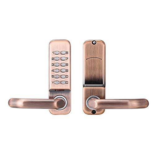 Prosperveil - Cerradura puerta botón zurdos, sin
