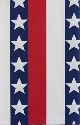 American Stars und Stripes Vaterländischen Vinyl Tischdecke Flanell Rückseite, Polyester Vinyl, mehrfarbig, 52