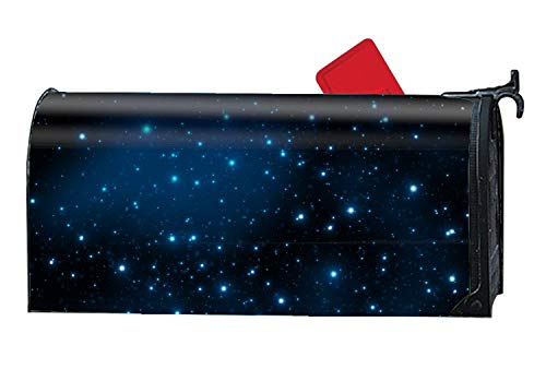 prz0vprz0v Verna Christopher Mailbox Cover-Blue Diamond Stars Magnetic Mail Box Cover-Cylinder Packaged 21 x 18 Inches Waterproof Canvas Mailbox Cover -