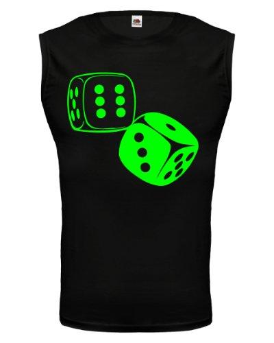 buXsbaum® Tank Top Spielwürfel Black-Neongreen