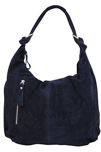 AMBRA Moda , Sac pour femme à porter à l'épaule XX-Large, Bleu Marine, XXL