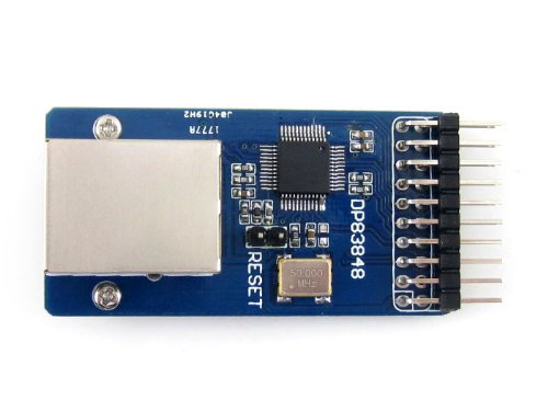 Waveshare DP83848 Ethernet Board Physical Transceiver Module RJ45 Connector Control Interface Board Kit