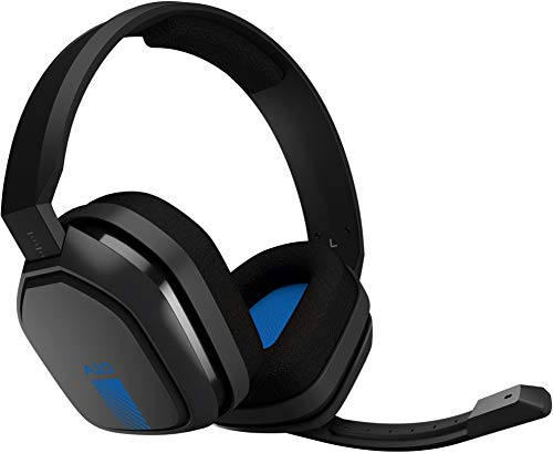 Astro gaming a10 cuffia con microfono e cavo per compatibile con playstation 4, xbox one, pc, mac, nero/blu