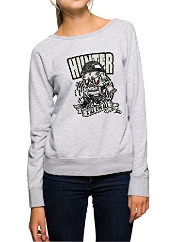 Certified Freak Hunter Killer Sweater Girls Grey S