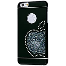 iShield® 6 Plus Light con CRYSTALS from Swarovski® Lusso Moderno Custodia collezione per iPhone 6 Plus/6S Plus marca e modello: iShield® 6 Plus Light Swarovski Elements Custodia Re Mela nero Noir Satiné Mat iPhone 6 Plus/6S Plus
