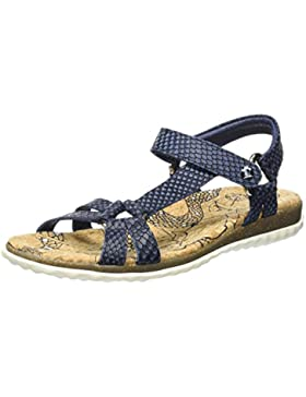 PANAMA JACK Damen Caribel Snake Offene Sandalen mit Keilabsatz