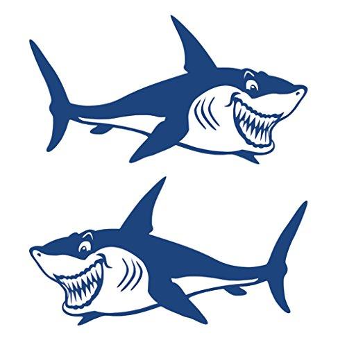 """Gazechimp 2 Stück \""""Haifisch\"""" Aufkleber Hai Sticker Für Kajak Kanu Fischerboot Auto Badezimmer Wand Surfboard Dekoration Sticker"""