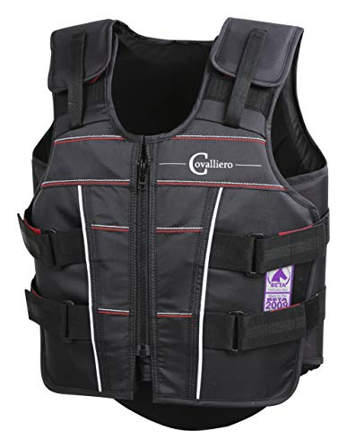 Covalliero Enfants Protection et sécurité Protecto Light Beta Gilet de Protection XS Noir