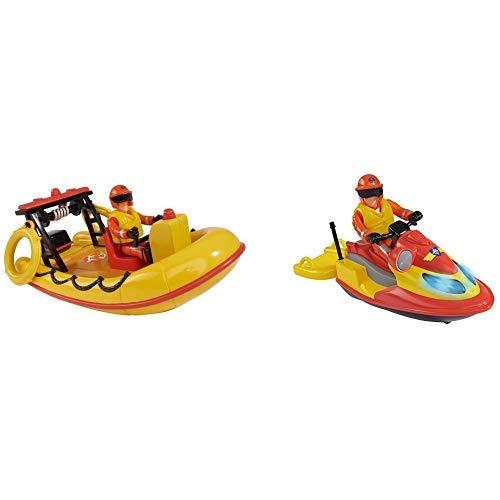uerwehrmann Sam Neptune Boot mit Figur &  109251662 - Feuerwehrmann Sam Juno Jet Ski mit Figur ()